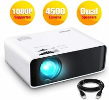 "Mini Video Movie Projector LED 1080p Full HD 200"" Display 4500 Lumens 2020 NEW"