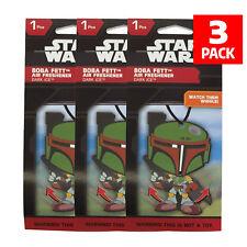 Star Wars Boba Fett Car Accessories - Boba Fett Air Freshener Wiggler (3-Pack)