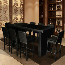 High Quality Bar Table Chairs Outdoor Furniture Rattan Wicker Set