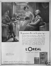 PUBLICITÉ 1923 L'OREAL TEINTURE POUR CHEVEUX ET POURTANT ELLES ONT LE MÊME ÂGE