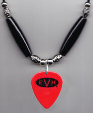 Eddie Van Halen Signature Evh Red Guitar Pick Necklace 2015