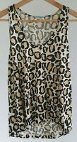 Kookai Womens Size 2 Casual Leopard Animal Print 100% Wool Tank Top EUC