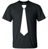 Tie - Funny Adult T-Shirt Black White S-XL sizes
