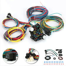 Universal 21 Circuit Fuse 12V Wire Harness Muscle Car Hot Rod Street Rod Rat Rod