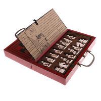 Chinese Terracotta Warriors 32 jeu d'échecs en bois avec échiquier
