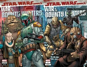 STAR WARS WAR OF THE BOUNTY HUNTERS ALPHA  & 1 CONNECTING VARIANT SET NM+
