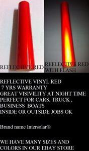 "12"" x 48""  RED Reflective Vinyl Adhesive Sign Hight Reflectivity Intersolar®"
