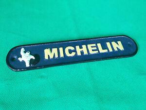 MICHELIN MAN Tyres Sign 26.5cm Cast Iron Bibendum 60s Repro Wall Plaque Garage