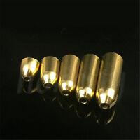 5pcs Bullet Shape Brass Lead Weights Drop Slider Sea Fishing Tackle Sinker