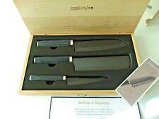 NEW KAMIKOTO KURO Series Set of 3 Knives w Certificate in Original Wooden Box