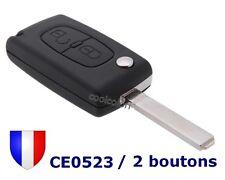Coque Clés Plip Télécommande 2 Boutons CE0523 pour Citroen Lame sans Rainure VA2