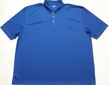 Mens Big Tall 4Xl Casual Golf Polo shirt, Blue, 100% Polyester, Sport-Tec, New