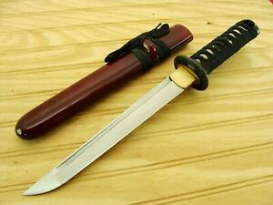 CUSTOM JAPANESE HAND FORGED DAMASCUS SAMURAI KATANA SHORT FIGHTING SWORD KNIFE