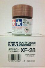 Tamiya acrylic paint XF-28 Dark copper 10ml Mini