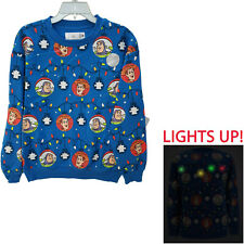More details for disney store toy story light up xmas jumper sweater sweatshirt adults woody buzz