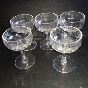 5 Vintage Retro small glasses mini coupe