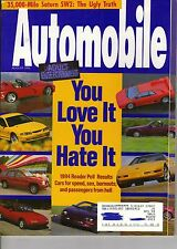 Automobile Magazine August 1994 Issue You Love It You Hate It
