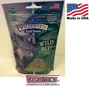 Natural Healthy Blue Buffalo Wilderness BITS Dog Treats Grain Free Training Duck