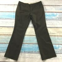 "Eddie Bauer Womens Pants size 12 Brown Blakely Bootcut x31"" insm Cotton Stretch"