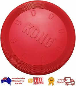 KONG - Flyer - Durable Rubber Flying Disc Dog Toy Large -- Suits all breeds