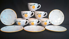 Laura Ashley Summer Fruits Lemon Cups, Saucers & 1 Dinner Plate -finalstopshop