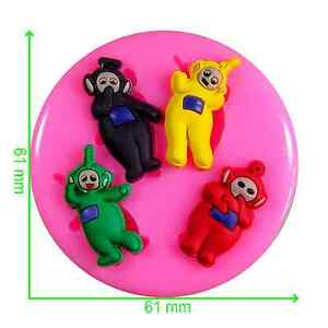 Tiny Teletubbies Silicone Mould by Fairie Blessings