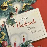 Vintage Mid Century Christmas Greeting Card Glitter Tree Ornaments NORCROSS