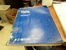 Yale Industrial Trucks Maintenance and Parts Manual ITD-1059