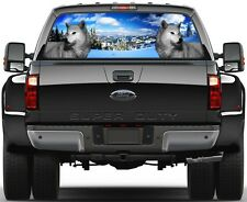 Wolf Winter Panorama Version 2 Rear Window Graphic Decal for Truck SUV Vans
