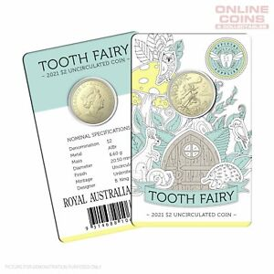 2021 RAM $2 Tooth Fairy Uncirculated Coin in Card