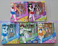 Genuine Sailor Moon, Mars, Mercury, Jupiter, & Venus S.H.Figuarts Action Figures