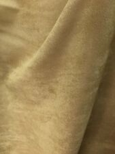 TAN Solid Faux Suede Upholstery Drapery Fabric (54 in.) Sold By The Yard