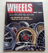 WHEELS May 1978 Silver Jubilee Issue 25 years of cars 1955 VW Beetle Golf D Audi