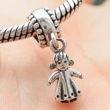 S925 Sterling Silver Baby Girl Pendant Charm Dangle Fit European Bracelet Chain