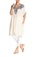 💕NWT JOHNNY WAS Embroidered WISHMOR SILK TUNIC Embroidered BIYA Dress M $325 💕