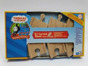 """Thomas & Friends 3½"""" Curved Road (90mm) X 4 pieces"""