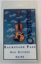 1994/95 laminated backstage pass ~ Overture