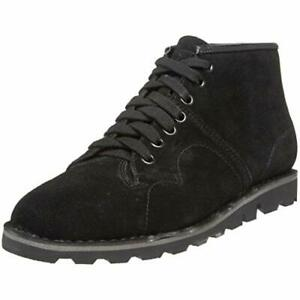 T.U.K Womens A7911 Black Suede Ankle Boots Lace Up Sizes 4 - 7 High Top