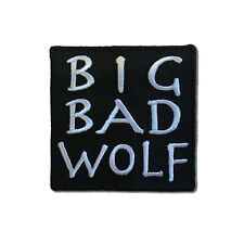 Embroidered Big Bad Wolf Sew or Iron on Patch Biker Patch