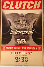 CLUTCH, THE OBSESSED, LIONIZE, 9:30 Club, D.C., Poster, Punk/KBD/Doom/Metal