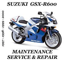 Suzuki GSX-R600 GSXR 600 Maintenance Service Repair Manual 1997 1998 1999 2000