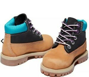 Timberland Premium 6 Inch Boot For Toddler In Yellow/blue Yellow Kids Size 7.5