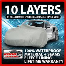 10 Layer Car Cover Indoor Outdoor Waterproof Breathable Layers Fleece Lining 340