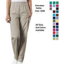 Cherokee Scurbs WorkWear Petite Pull On Cargo Pants 4200P Choose Color/Size NWT