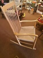 Vintage Hans Wegner J16 Rocking Chair Mobler FDB Denmark Eames Knoll Kvist