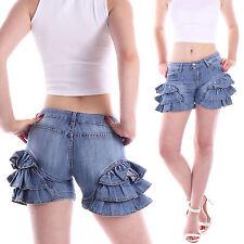 Unifarbene Damen-Shorts & -Bermudas im Hosenröcke aus Baumwolle