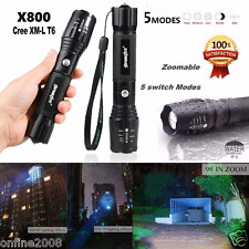 Tactical 5000LM G700 LED 5 Modes Flashlight X800 Zoom Super Bright Light Lamp