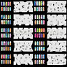 Set8 200 Airbrush Nail Art Stencil Design 20 Template Sheets Kit Brush Paint