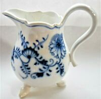 Antique Vintage Meissen Repaired Blue Onion Jug 12cm tall