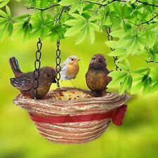 Bird Feeder Hanging Tray Hat Shape Statue Wild Bird Yard Garden Decor Ornament